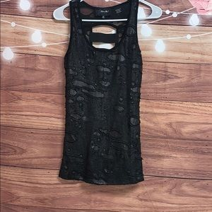 Miss Me destructed stretchy tank top